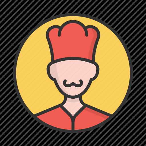 account, avatar, chief, cooker, person, profile, user icon