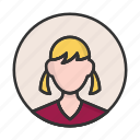 account, avatar, girl, person, profile, user