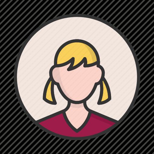 account, avatar, girl, person, profile, user icon