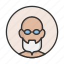 account, avatar, beard, grandfather, person, profile, user icon