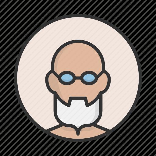 account, avatar, beard, grandfather, person, profile, user icon