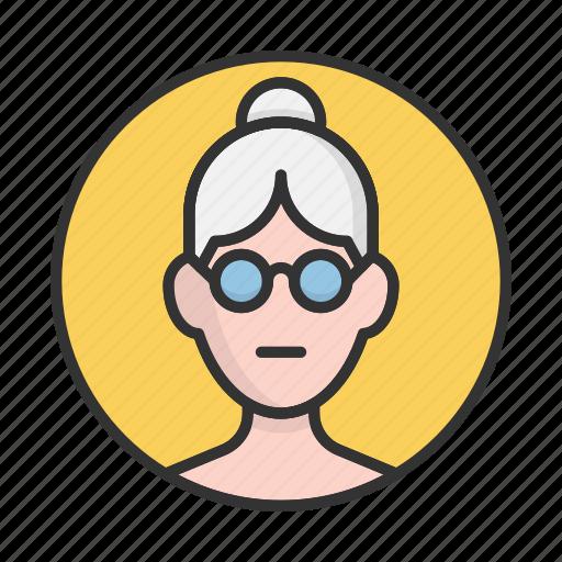 account, avatar, grandmother, person, profile, user icon