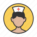 account, avatar, nurse, person, profile, user icon