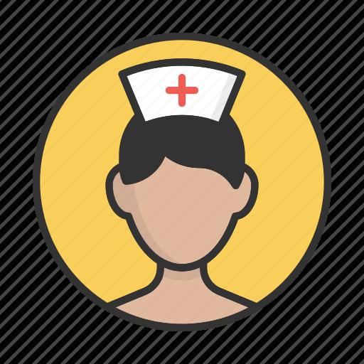 account, avatar, nurse, person, profile, user icon