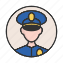account, avatar, person, policeman, profile, user icon