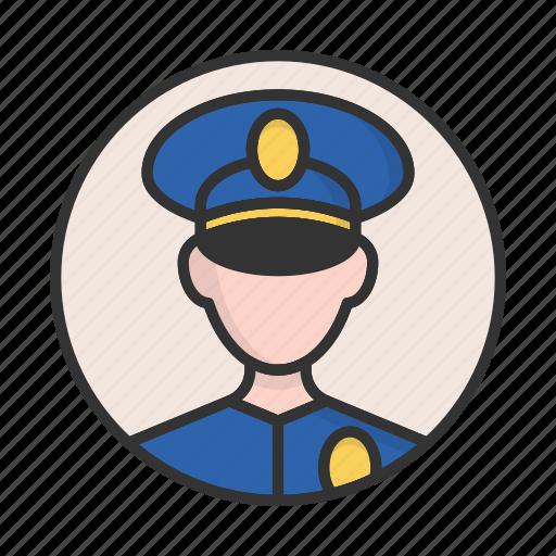 account, avatar, person, policeman, profile, user icon