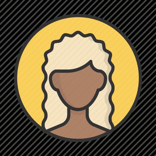 account, avatar, person, profile, user, woman icon