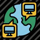 address, computer, gobal, internet, world icon
