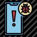 bug, malware, security, smartphone, virus