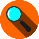 analytics, find, magnifier, search, statistics, zoom icon