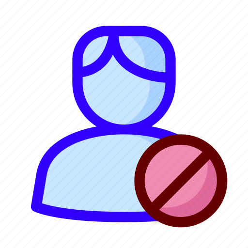 block, locked, male, user icon
