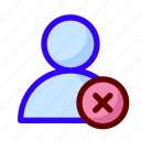 blocked, error, user icon