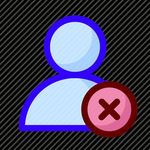 blocked, error, user icon