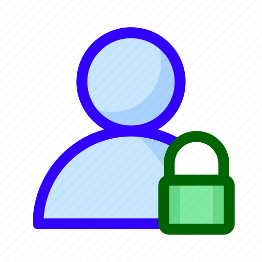 locked, padlock, user icon