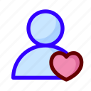 favorite, love, user icon