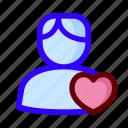favorite, love, male, user