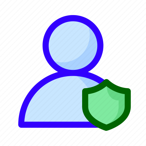protected, shield, user icon