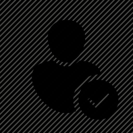 account, avatar, check, person, profle, user, user icon icon