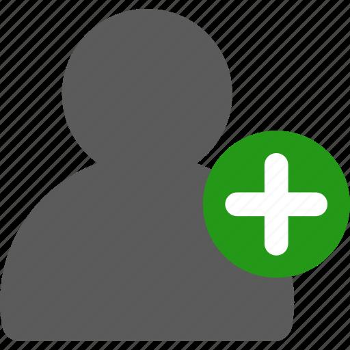 add, user icon
