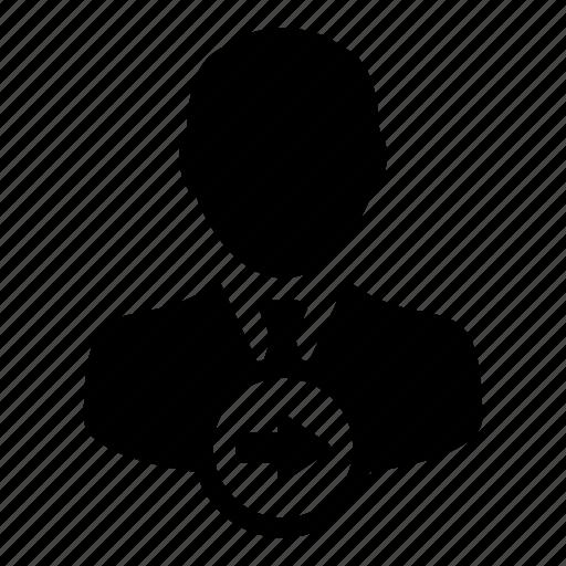 arrow, man, next, right, user icon