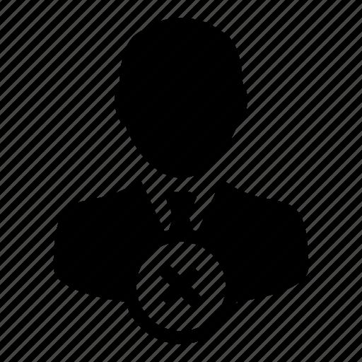 avatar, delete, man, remove, user icon
