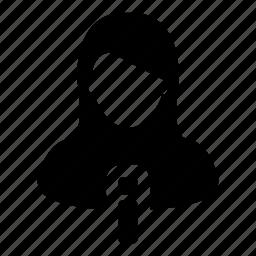 data, info, profile, user, woman icon