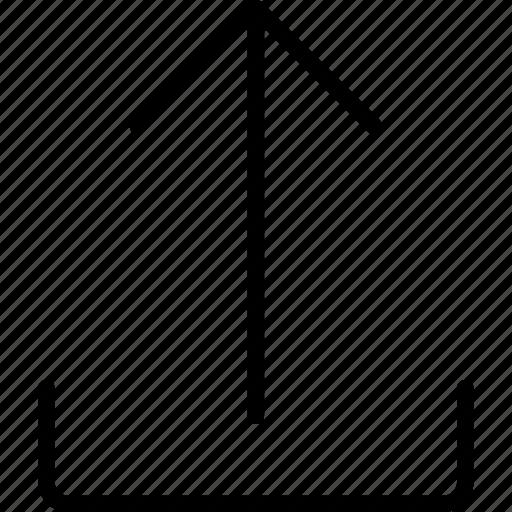 arrow, data, document, files, right, storage, upload icon