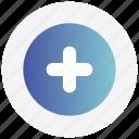 add, circle, interface, new, plus, user icon