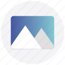 image, interface, landscape, photo, picture, user icon