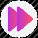 forward, interface, music, user icon