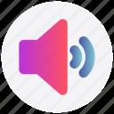 interface, sound, speaker, user, volume icon