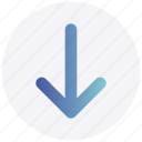 arrow, down, download, interface, user icon