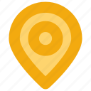interface, location, map pin, user icon
