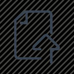 document, file, send, upload icon