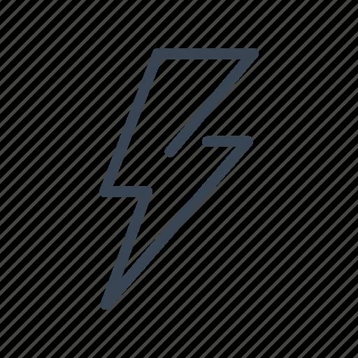 energy, flash, lightning, power, thunder icon