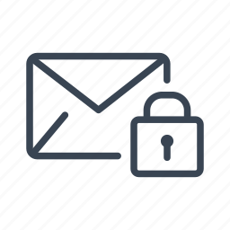 email, lock, mail, password, protect, secure icon
