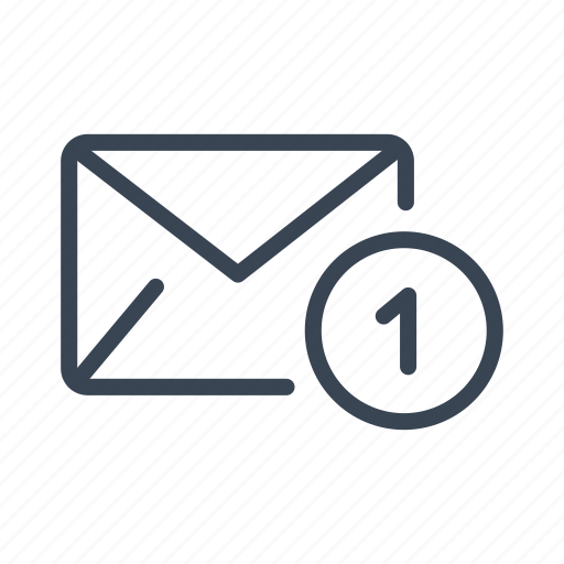 email, inbox, mail, message, new, notification icon