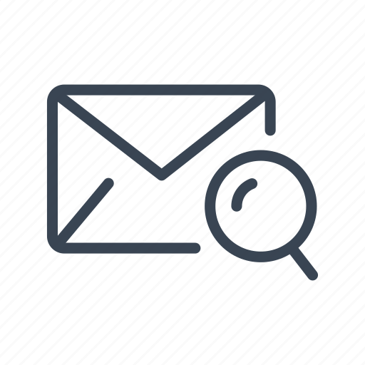 email, enveloppe, mail, search icon