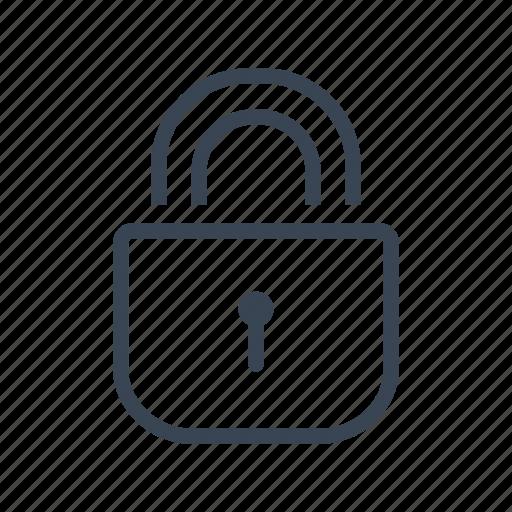 lock, locked, padlock, security icon
