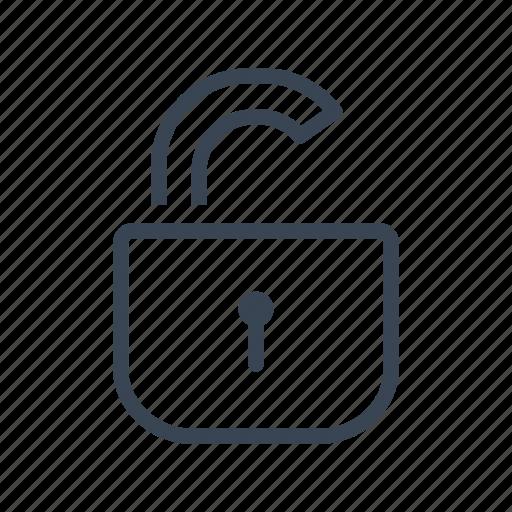 lock, padlock, unlock, unlocked icon