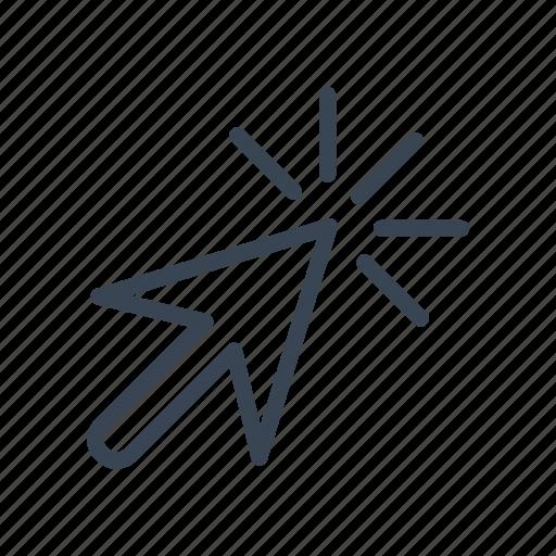 arrow, cursor, pointer, select icon