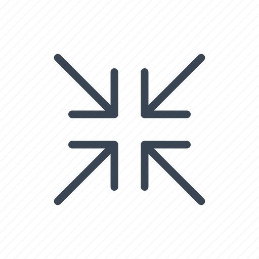exit, fullscreen, minimize, reduce, resize icon
