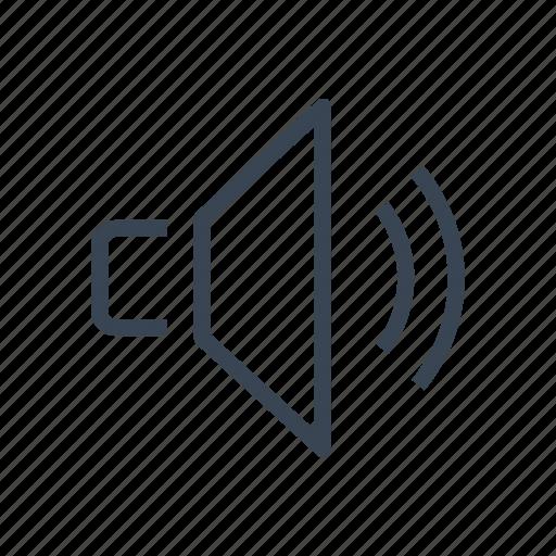 audio, music, on, sound, speaker, volume icon