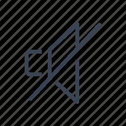audio, music, mute, off, sound, speaker icon