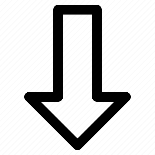 arrow, down, element, navigation, user interface icon