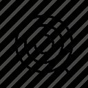 aim, goal, shooting board, target icon