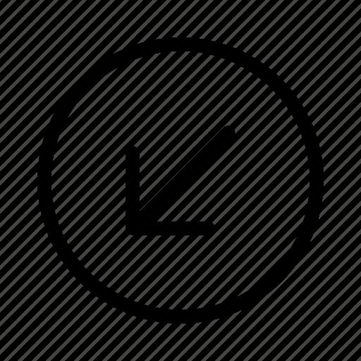 arrow, down, interface, user icon