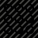 hamburguer menu, interface, list, menu, navigation, options, user icon