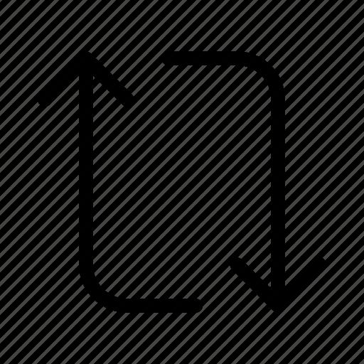 arrow, interface, transfer, user icon