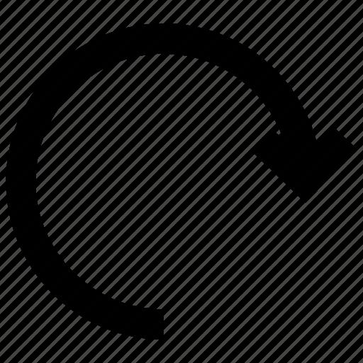 arrow, redo, reload, reset, rotate icon